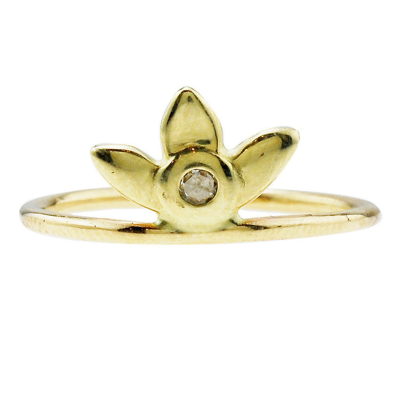 Web Exclusive: Forget-Me-Not Ring in Gold