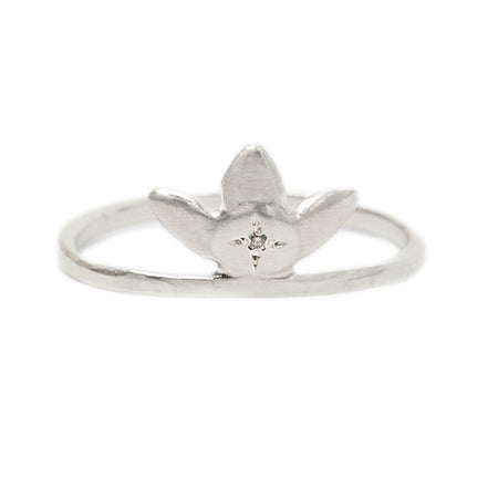 FORGET-ME-NOT RING IN STERLING SILVER, ORG 185