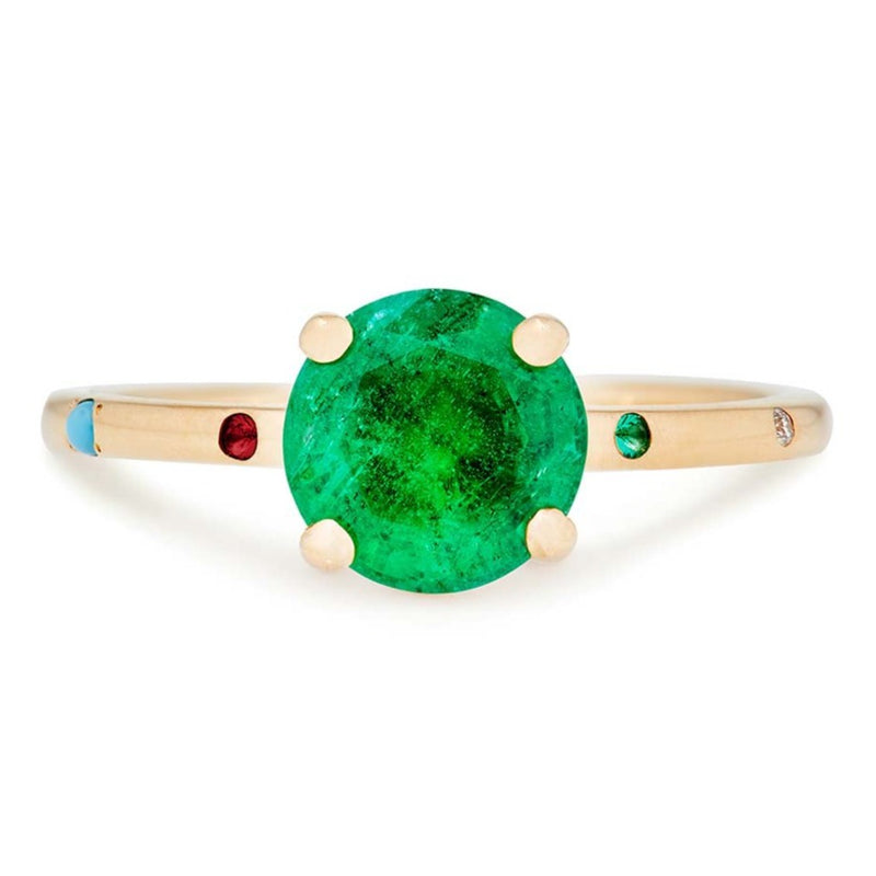 Kinship Ring with Emerald