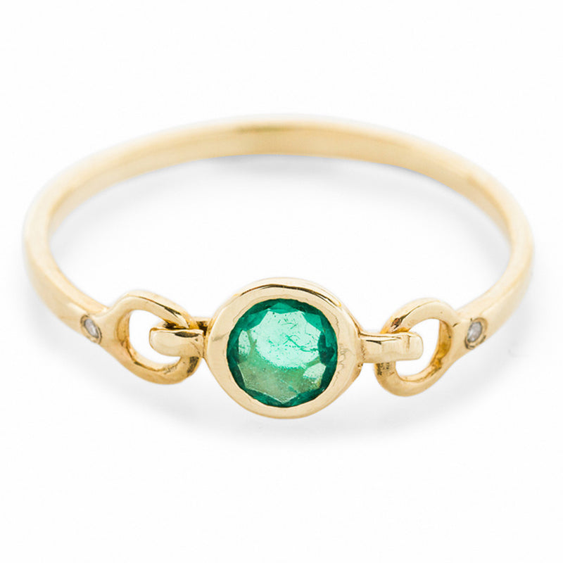 Precious Linked Emerald Ring