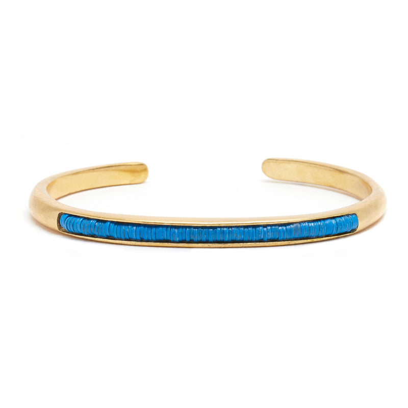 Beaded Wythe Cuff in Blue