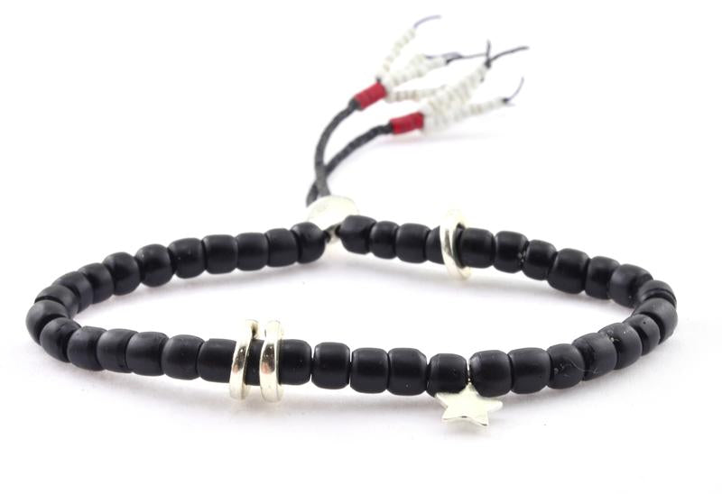 Mantra Bracelet in Black