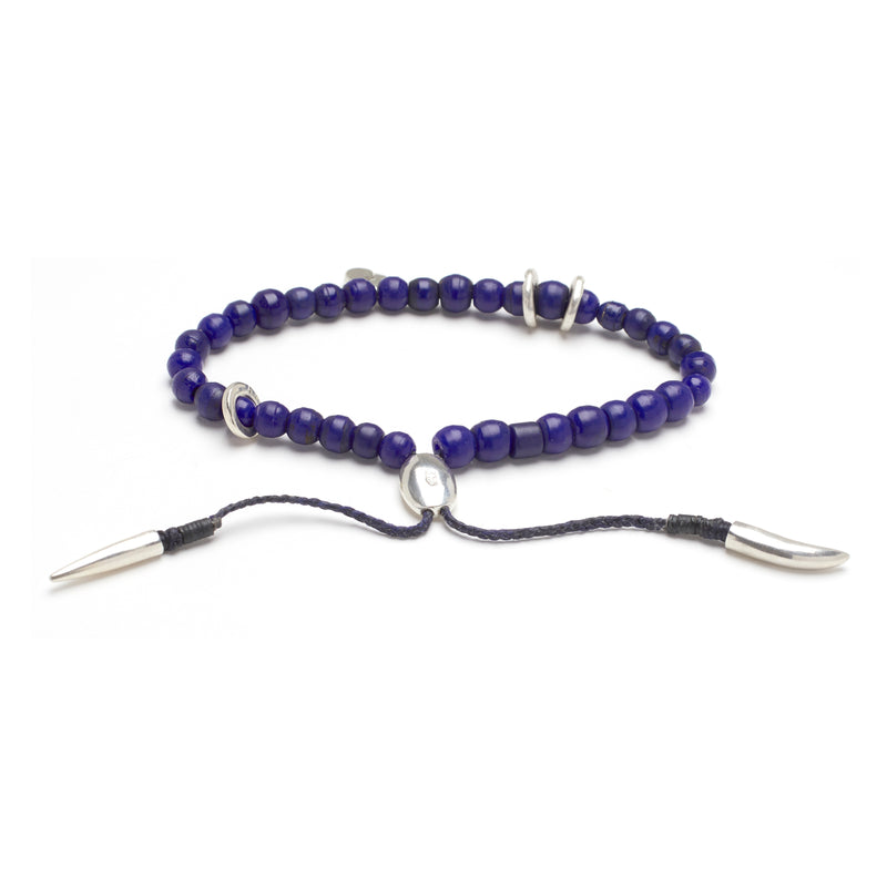 Mantra Bracelet in Blue
