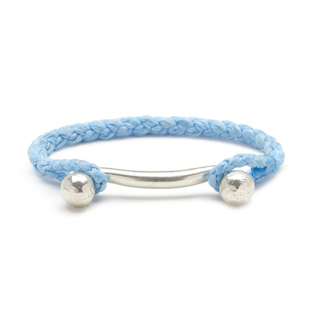 Double Ball Bar with Rope Cuff in Sky