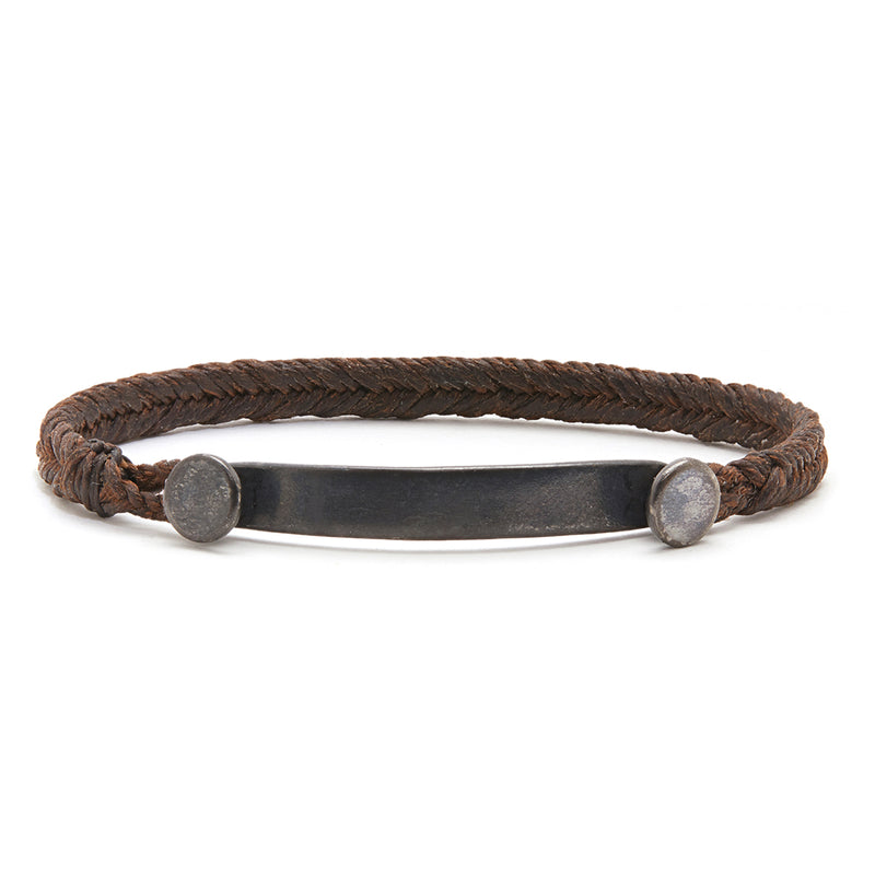 Fishtail Bar Bracelet in Chocolate