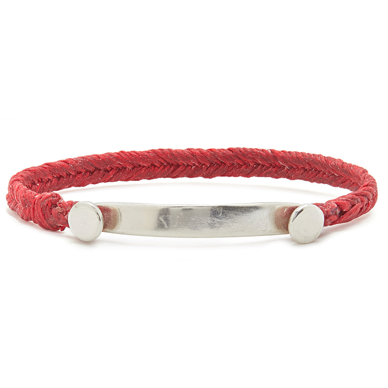 Fishtail Bar Bracelet in Scarlet