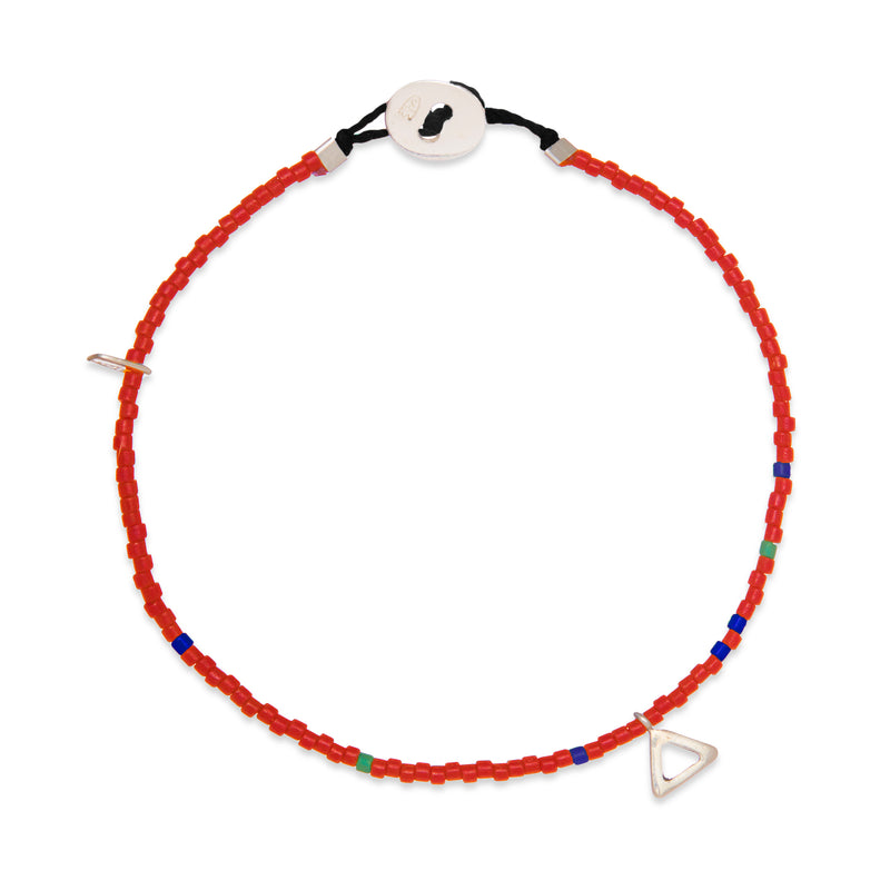 Beaded Balance Bracelet in Red