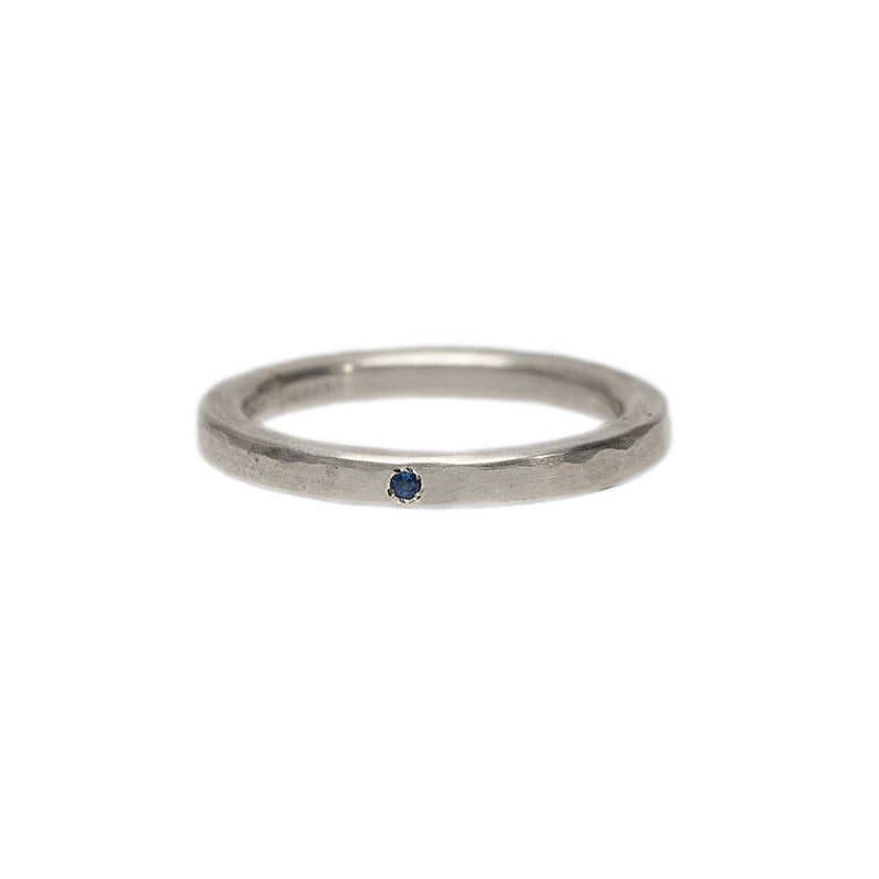 Simple Band with Sapphire