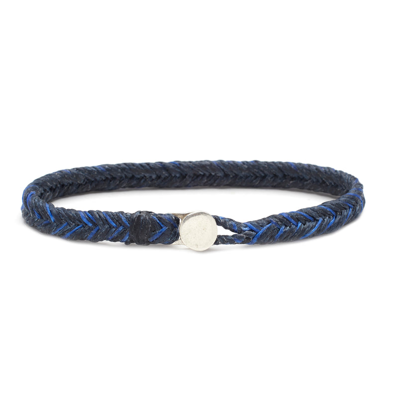 Classic Fishtail Button in Denim and Royal Blue Fleck