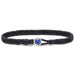Scosha Classic Fishtail Lapis Button Bracelet in Black
