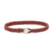 Scosha Classic Fishtail Button Bracelet in Rust, Royal Blue, and Berry Fleck