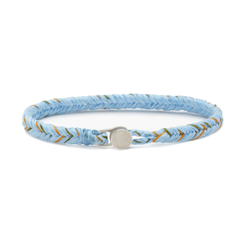 Scosha Classic Fishtail Button Bracelet in Sky, Soleil, and Olive