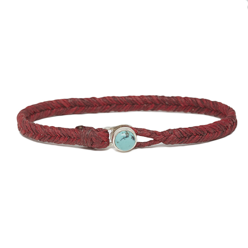 Classic Fishtail Turquoise Button in Red