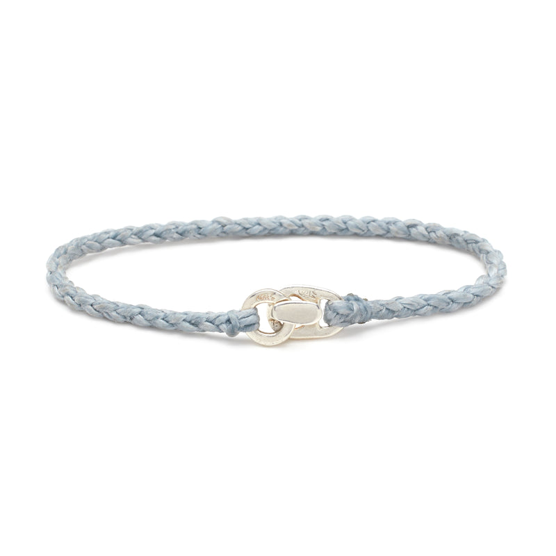 Single Wrap Bracelet in Silver and Aquaspray