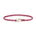 Single Wrap Bracelet in Silver and Berry