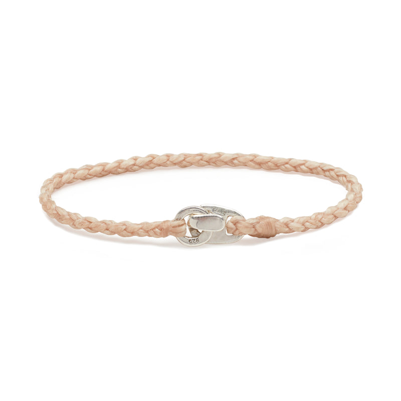 Single Wrap Bracelet in Silver and Natural