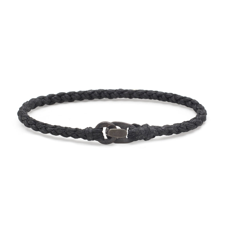Single Wrap Bracelet in Oxidized Black