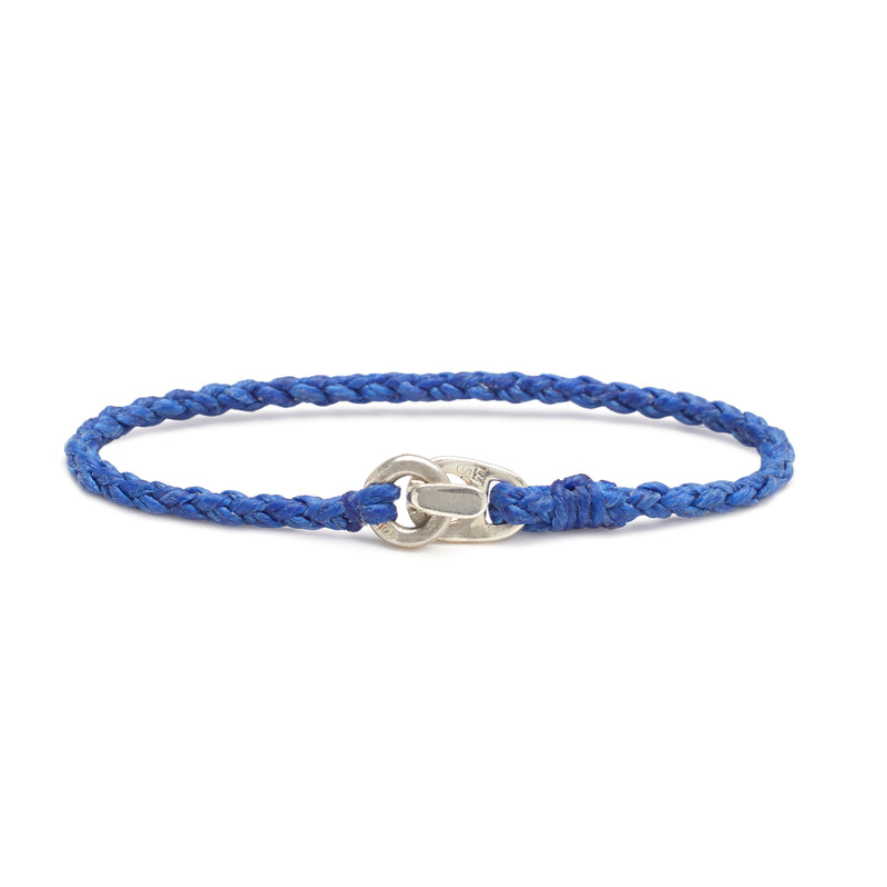 Single Wrap Bracelet in Silver and Royal