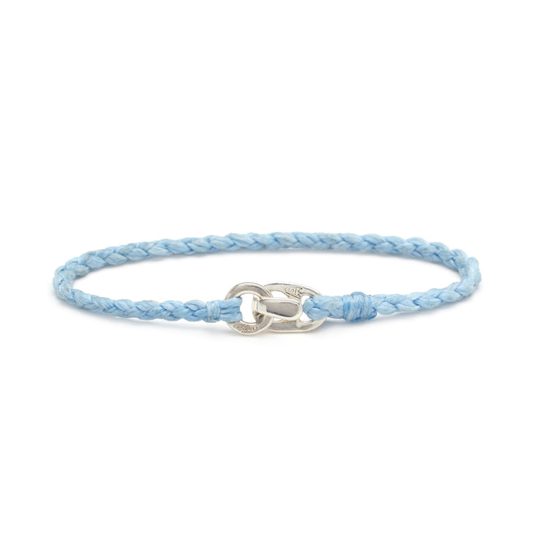 Single Wrap Bracelet in Silver and Sky
