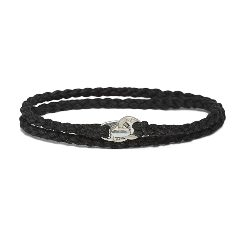 Simply Wrapped Bracelet in Silver & Black