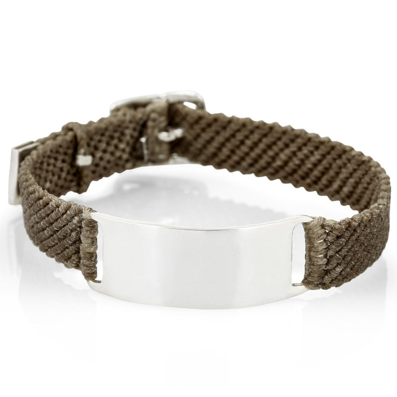 Belt ID Bracelet in Silver and Mocha