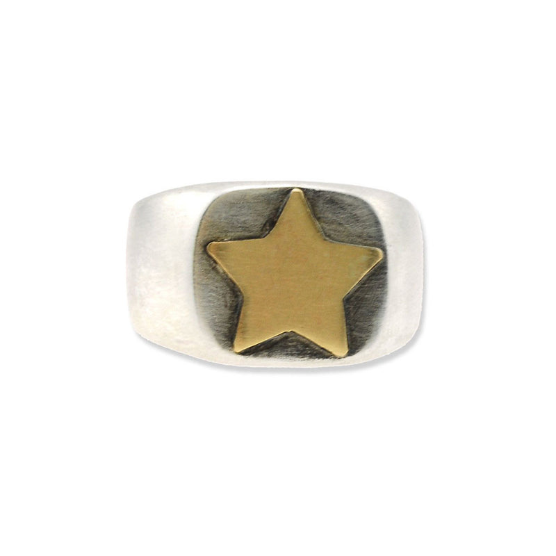 Signet Star Ring