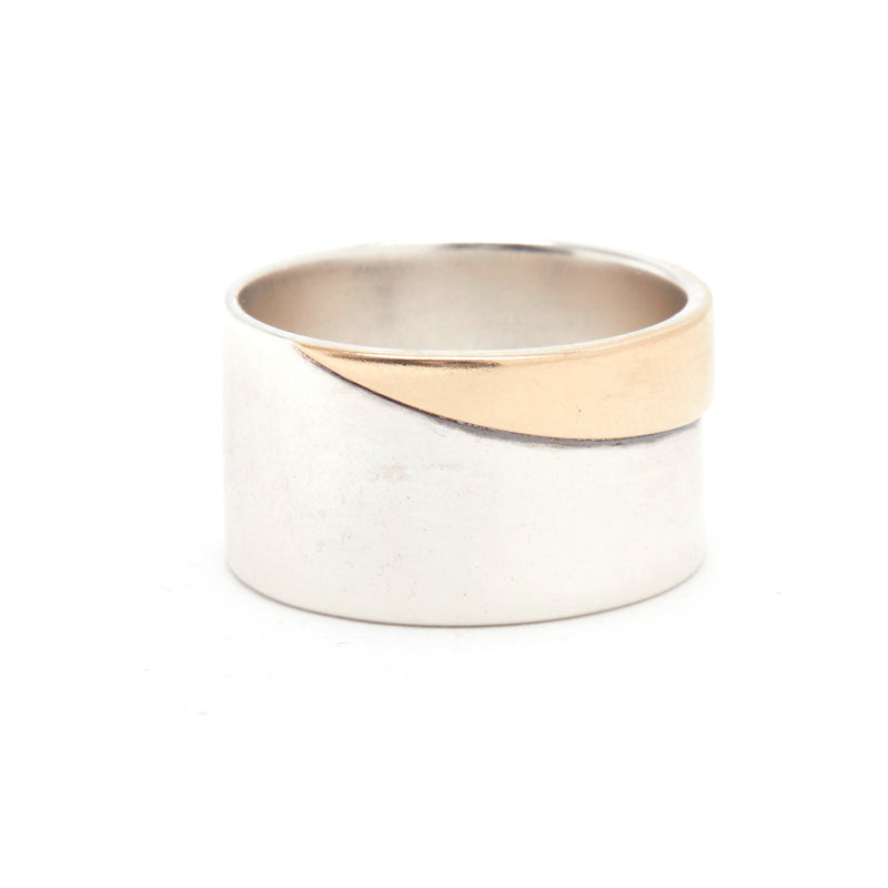 Duality Band in Silver and Gold