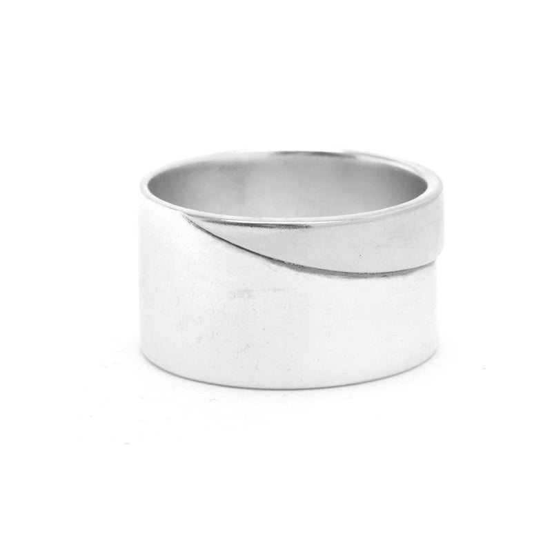 Duality Band in Silver