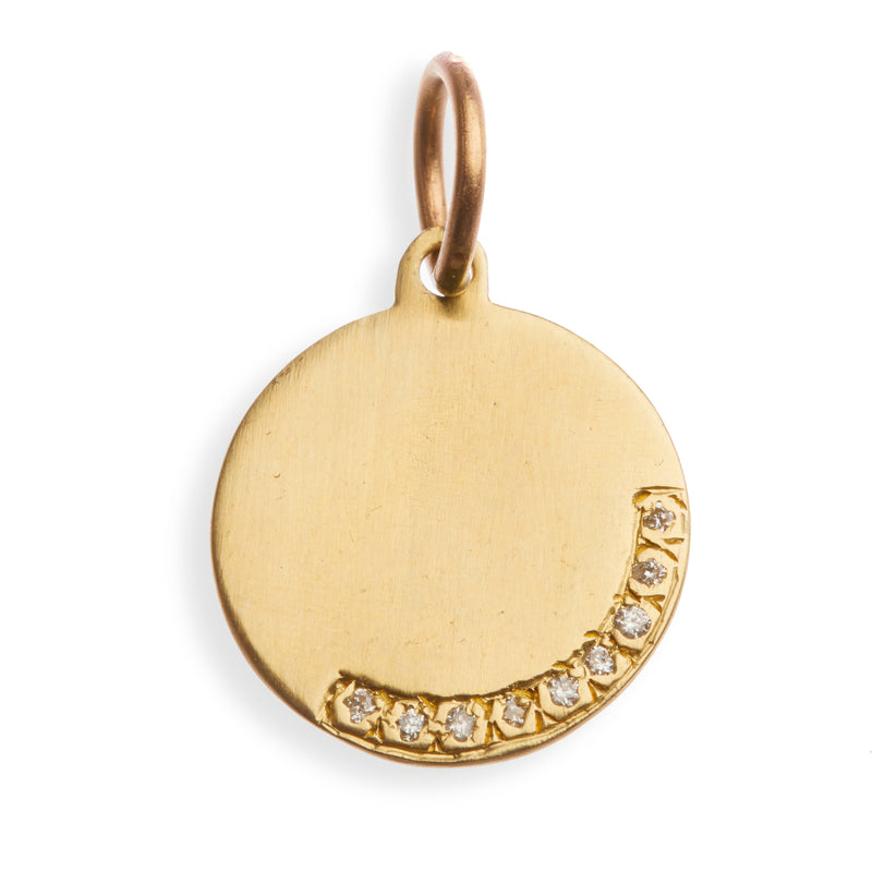 A Classic Gold Charm with Diamonds