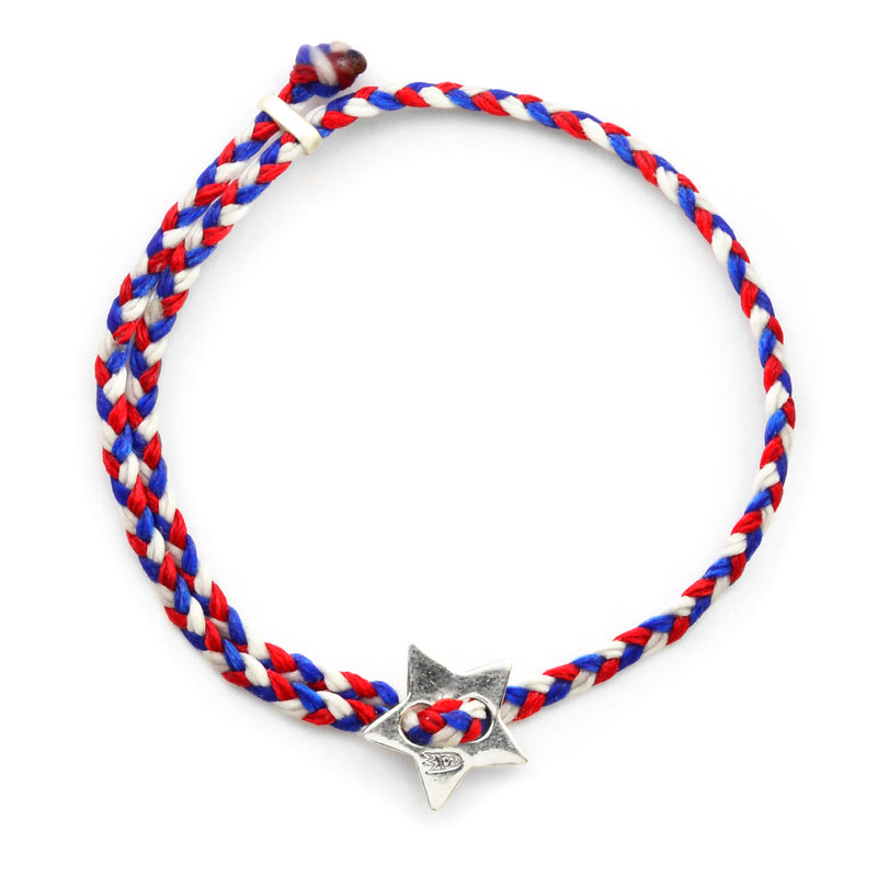 Red, White, and Blue Signature 4MM Bracelet in Sterling Silver