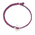 Friendship Star Slider Braid in Berry and Royal Blue