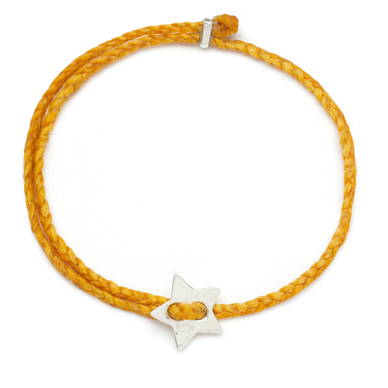Signature 4mm Bracelet, Silver Star in Mimosa