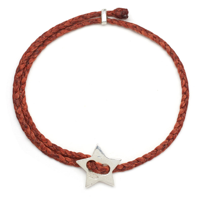Signature 4mm Bracelet, Silver Star in Rust