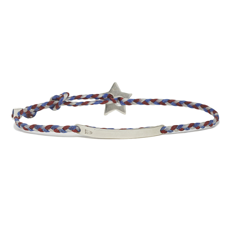 Signature ID Star in Silver & red white and blue