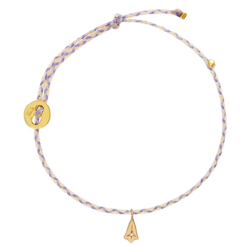 Signature Bracelet in Lavender Blend with Diamond Lotus