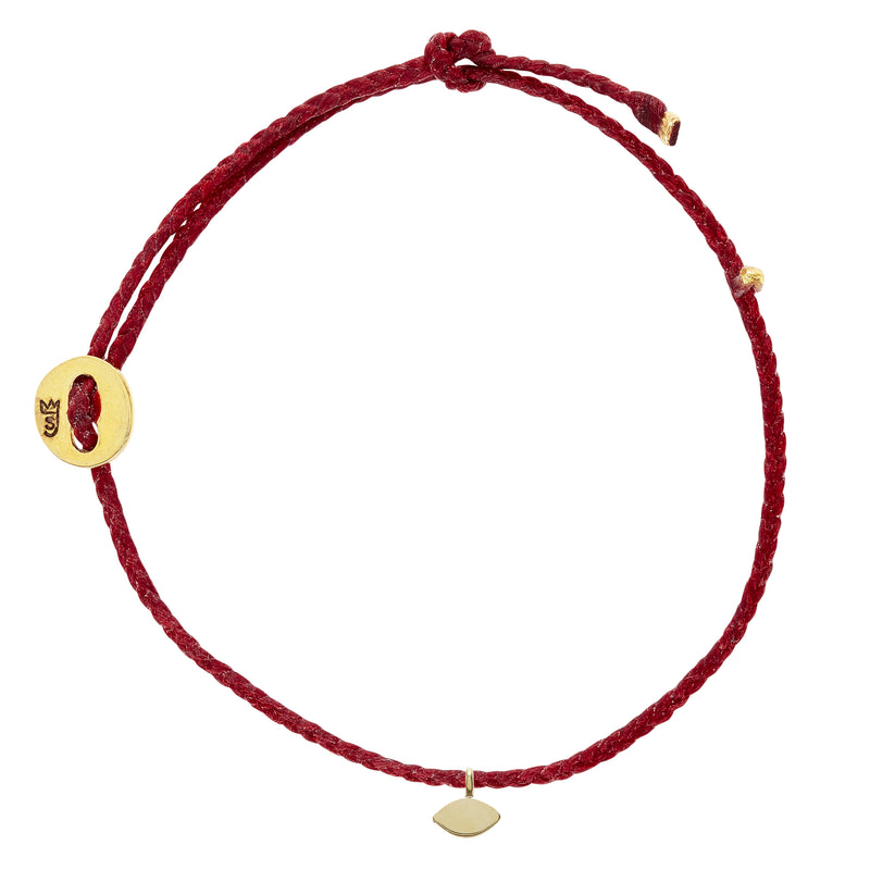 Signature Bracelet in Red with Eye Charm