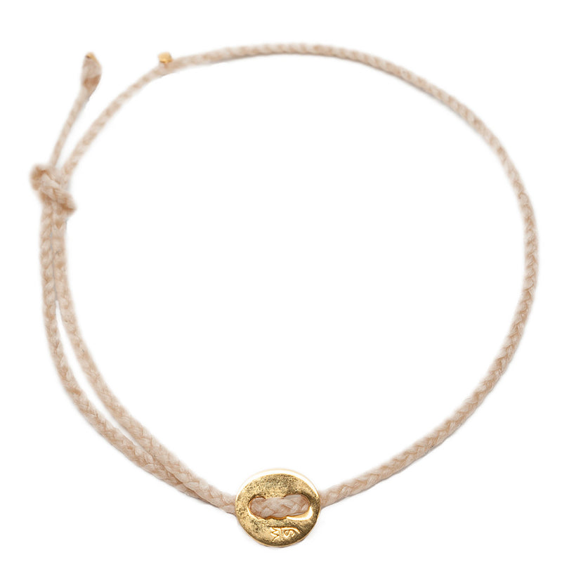 Signature Anklet in Brass with Natural (2mm)