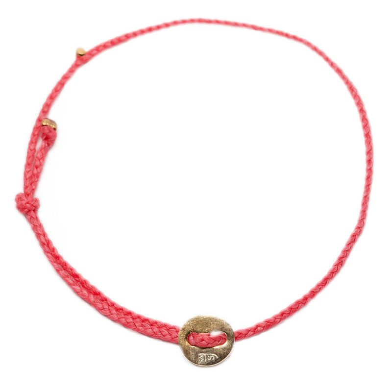 Signature Anklet in Hot Pink