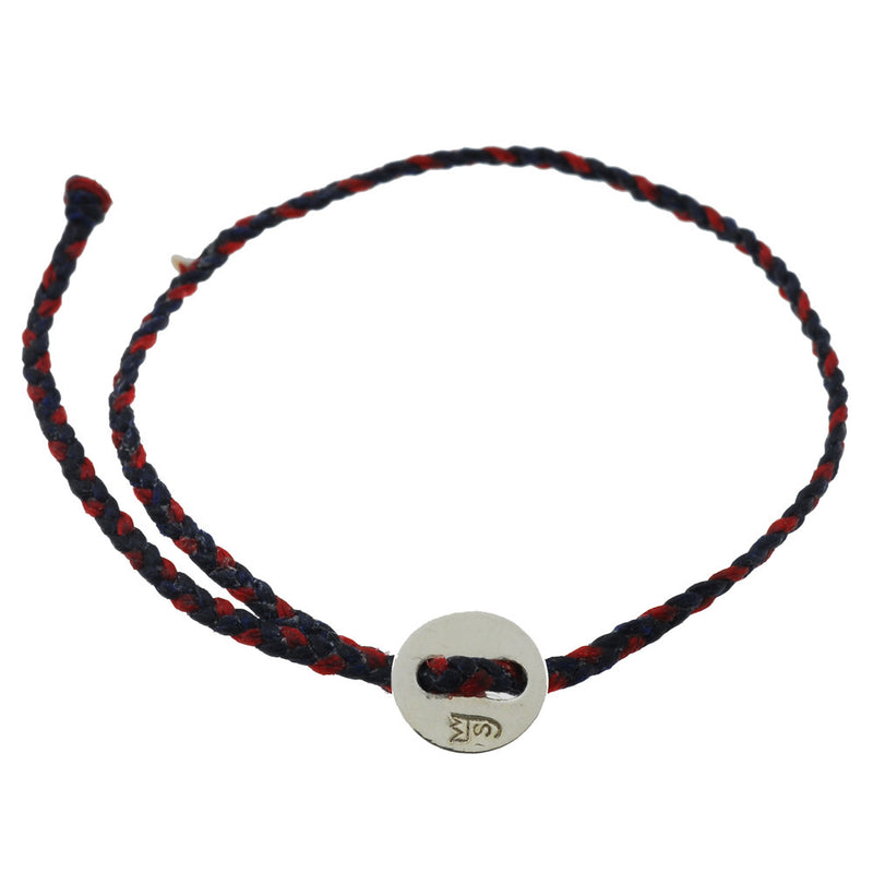 Little Signature Bracelet, Silver in Indigo and Red