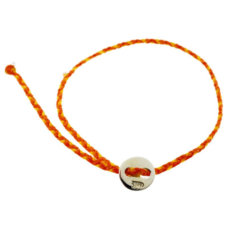 Little Signature Bracelet, Silver in Orange and Yellow