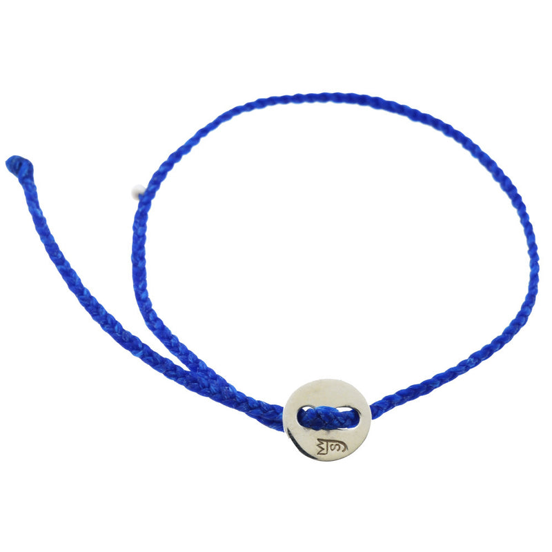 Little Signature Bracelet, Silver in Royal Blue