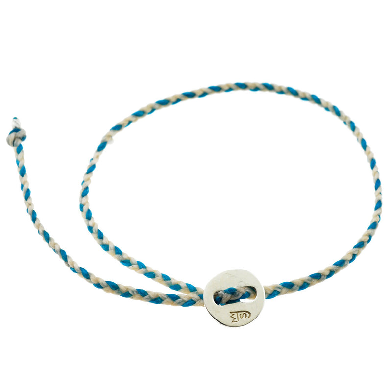 Little Signature Bracelet, Silver in White & Turquoise