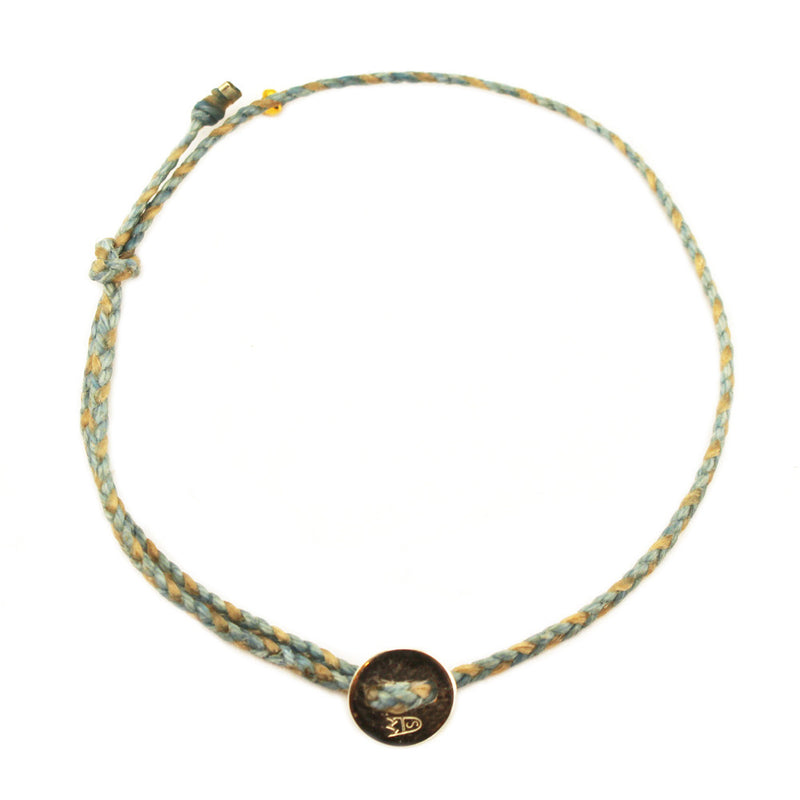Signature Anklet in Light Blue and Natural