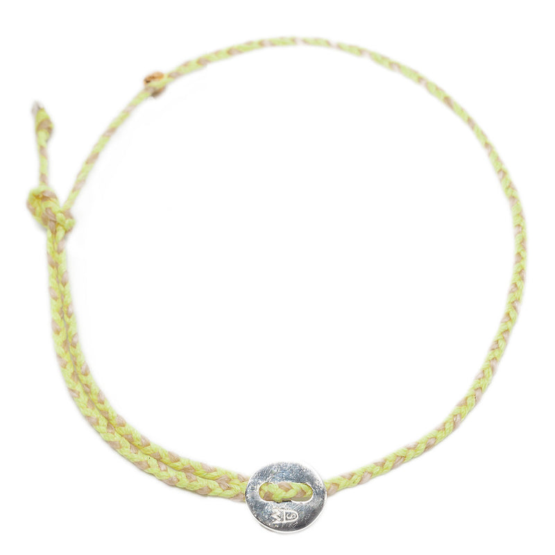 Signature Anklet in Silver with Neon Yellow & Natural