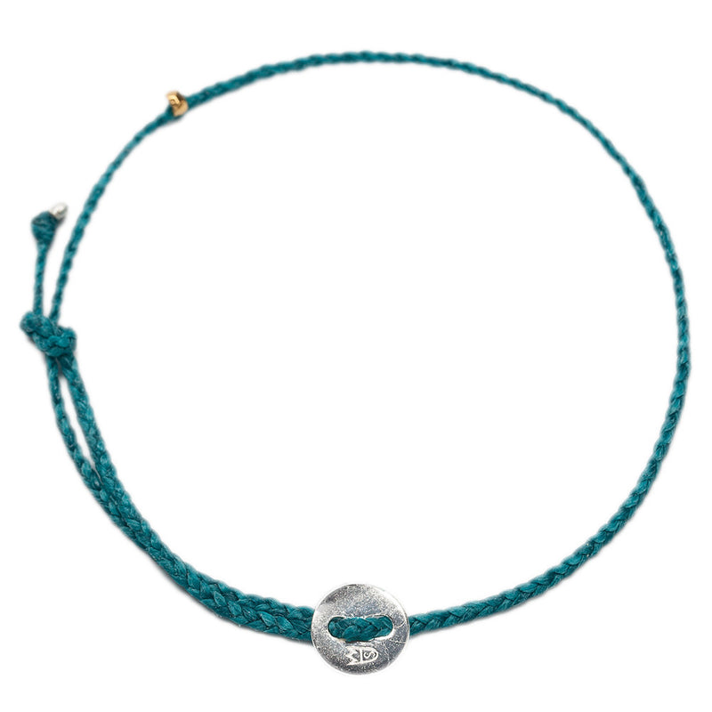 Signature Anklet in Silver with Turquoise (2mm)