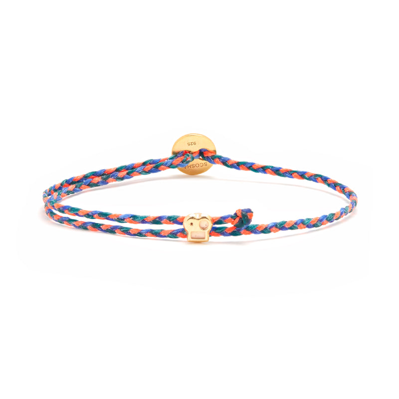 Signature Bracelet with Brian Slider in Neon Pink/Royal Blue Blend