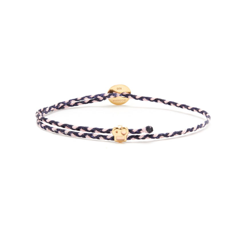 Signature Bracelet with Brian Slider in Indigo/Light Pink Blend
