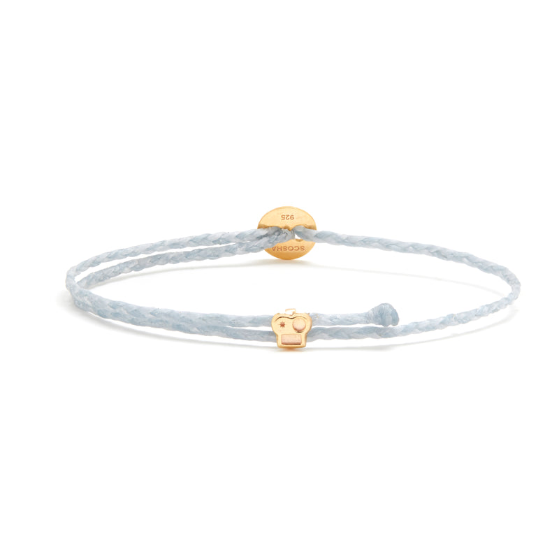Signature Bracelet with Brian Slider in Light Blue