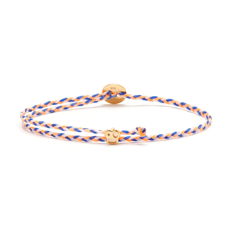Signature Bracelet with Brian Slider in Neon Peach/Royal Blue Blend