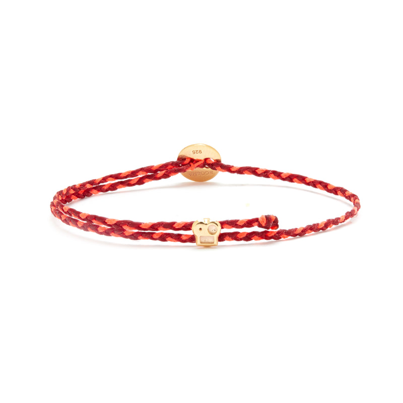 Signature Bracelet with Brian Slider in Red/Neon Pink Blend